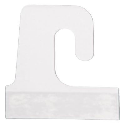 J-Hook Hang Tab, Clear, 1-1/2