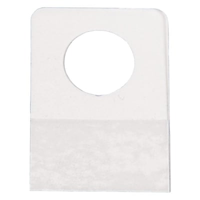 Hang Tab W/ Round Hole, Clear, 7/8