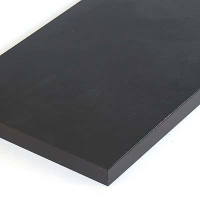 Melamine Shelf, Black, 12