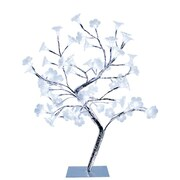 Simple Designs Large Morning Glory LED Decorative Tree, White