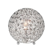Elegant Designs Crystal Ball Table Lamp, Chrome Plated Finish