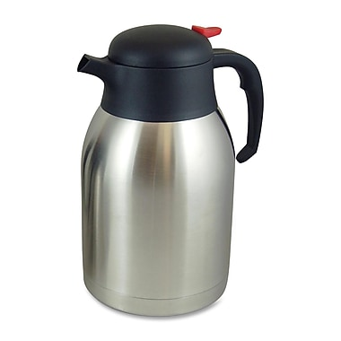 Genuine Joe® 2.11 qt. Everyday Double Wall Vacuum Carafe, Stainless Steel