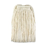 Genuine Joe GJO 48260 Rayon/Cotton/Polyester Mop Head Refill for Saddle Handle, #24