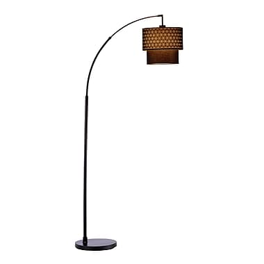Adesso® Gala Arc Floor Lamp, Matte Black