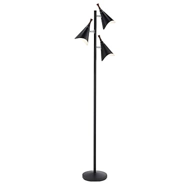 Adesso® Draper Tree Floor Lamp, Black
