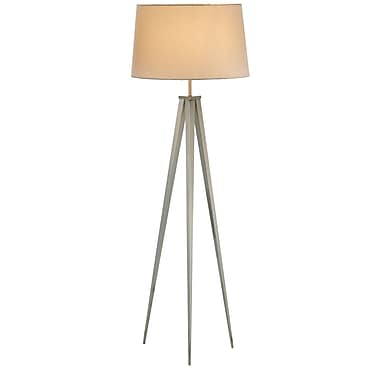Adesso® Producer Floor Lamp, Satin Steel
