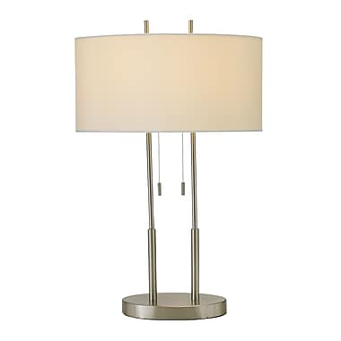 Adesso® Duet Table Lamp, Satin Steel Finish