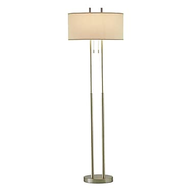 Adesso® Duet Floor Lamp, Satin Steel