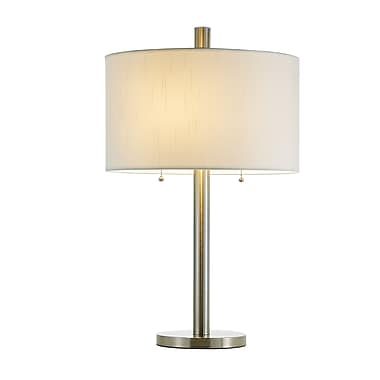 Adesso® Boulevard Table Lamp, Satin Steel Finish
