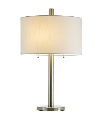 Adesso Boulevard Table Lamp, Brushed Steel (4066-22)