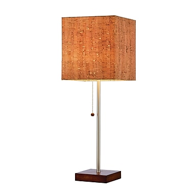 Adesso® Sedona Table Lamp, Walnut Finish