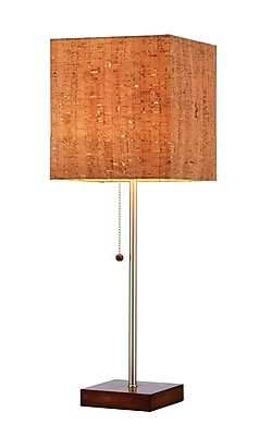 Adesso Sedona Table Lamp, Walnut Rubberwood (4084-15)