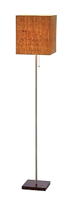 Adesso® Sedona Floor Lamp, Walnut