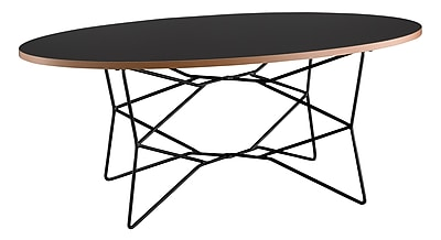 Adesso Network Metal Coffee Table, Black, Each (WK2273-01)
