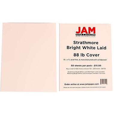 JAM PaperMD – Papier couverture cartonné Strathmore, vergé, 8-1/2 x 11 po, blanc lumineux