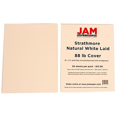 Strathmore® 238 GSM Bristol Laid Writing Covers, 8 1/2