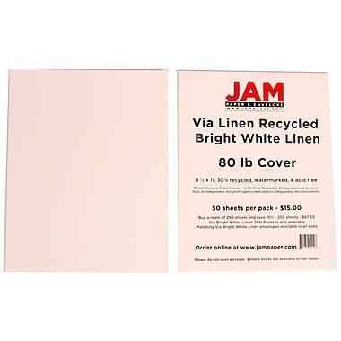 Jam Paper® Strathmore Linen Cover Cardstock, 8-1/2
