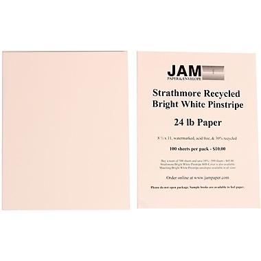 Jam PaperMD – Papier rayé Strathmore, 8 1/2 x 11 po, blanc brillant