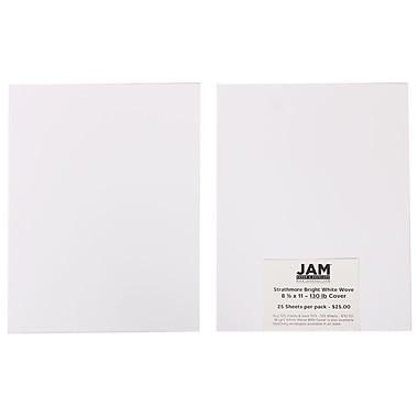 Jam PaperMD – Papier couverture cartonné Strathmore très épais et rigide, vélin, 8 1/2 x 11 po, blanc brillant