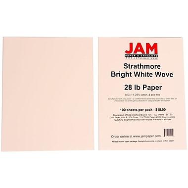Jam PaperMD – Papier vélin Strathmore 28 lb, 8 1/2 x 11 po, blanc brillant