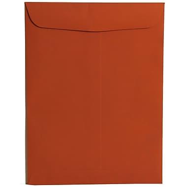 JAM PaperMD – Enveloppes ouvertes en papier texturé, 9 x 12 po, orange foncé, 100 par boîte