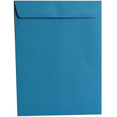 JAM PaperMD – Enveloppes ouvertes pour catalogue en papier texturé sans fermoir, 9 x 12 po, bleu, 100/boîte