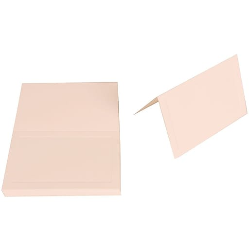 JAM Paper® Foldover Table Place Cards, 2 3/16 x 3 3/8, 80lb Strathmore Bright White Wove Panel Placecards, 25/Pack (1805683)