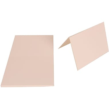 JAM Paper Blank Foldover Cards, A6 size, 4.63 x 6.25, 80lb Strathmore Bright White Wove, 50/Pack (3095706g)