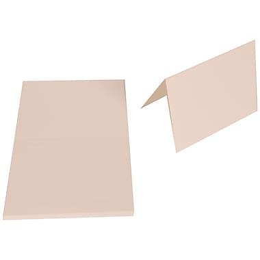 JAM Paper® Blank Foldover Cards, A7 size, 5 x 6 5/8, 80lb Strathmore Bright White Wove Panel, 2 packs of 25 (1745717g)