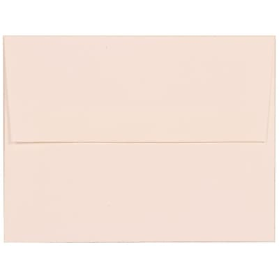 JAM Paper® A2 Invitation Envelopes, 4 3/8 x 5 3/4, Strathmore Bright White Linen, 1000/carton (66670B)