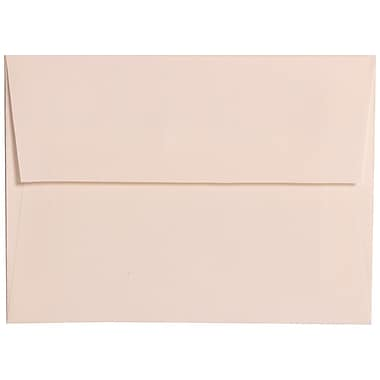 JAM Paper® A6 Invitation Envelopes, 4.75 x 6.5, Strathmore Bright White Linen, 100/Pack (3137g)