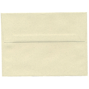 JAM Paper® A6 Invitation Envelopes, 4.75 x 6.5, Gypsum Ivory Recycled, 100/Pack (41346g)