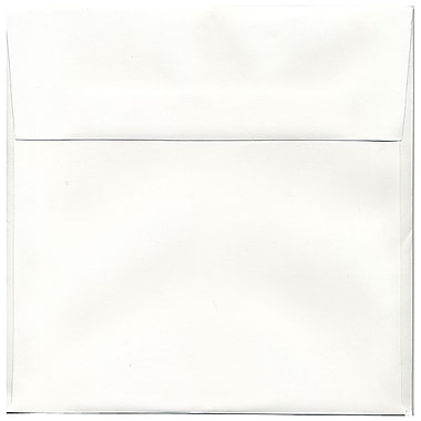 JAM Paper® 8.5 x 8.5 Square Envelopes, Strathmore Bright White Wove, 100/Pack (900858534g)
