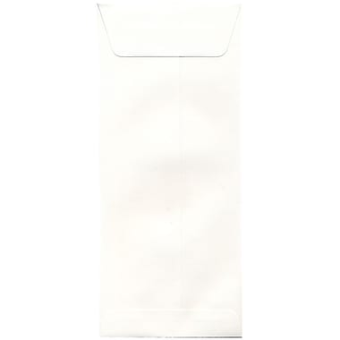 JAM Paper® #14 Policy Envelopes, 5 x 11.5, Strathmore Natural White Wove, 100/Pack (191255g)
