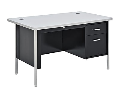 Sandusky SQ4830BGN Teacher's Desk, Black/Gray Nebula