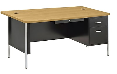 Sandusky SQ6030BM Teacher's Desk, Black/Maple