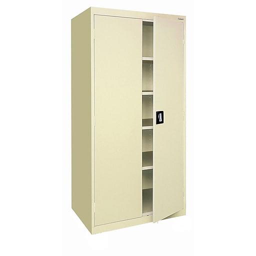 "Sandusky Lee Elite Series 78"" Steel Storage Cabinet with 4 Shelves, Putty (EA4R362478-07)"