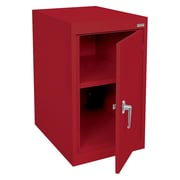 "Sandusky® Elite 18"" x 24"" x 30"" Desk Height Cabinet With Adjustable Shelves, Red"