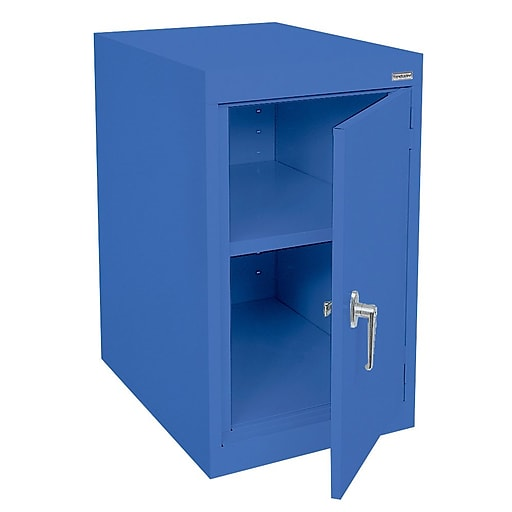 "Sandusky Elite 30""H Desk Height Steel Cabinet with 2 Shelves, Blue (EA11182430-06)"
