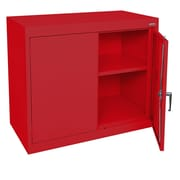 "Sandusky® Elite 36"" x 18"" x 30"" Desk Height Cabinet With Adjustable Shelves, Red"