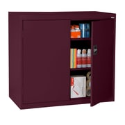 "Sandusky® Elite 46"" x 24"" x 42"" Counter Height Cabinet With Adjustable Shelves, Burgundy"