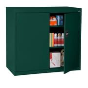 "Sandusky® Elite 46"" x 24"" x 42"" Counter Height Cabinet With Adjustable Shelves, Forest Green"