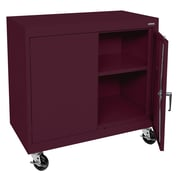 "Sandusky® Elite 36"" x 36"" x 24"" Transport Work Height Storage Cabinet, Burgundy"