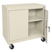 """Sandusky® Elite 36"""" x 36"""" x 18"""" Transport Work Height Storage Cabinet, Putty"""