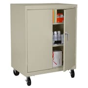"""Sandusky® Elite 48"""" x 36"""" x 24"""" Transport Work Height Storage Cabinet, Putty"""