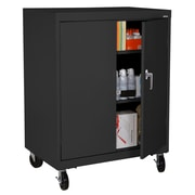 "Sandusky® Elite 48"" x 36"" x 24"" Transport Work Height Storage Cabinet, Black"