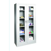 "Sandusky® See Thru 36"" x 24"" x 78"" Clearview Storage Cabinet, Dove Gray"
