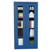 "Sandusky® See Thru 36"" x 24"" x 72"" Clearview Storage Cabinet, Blue"