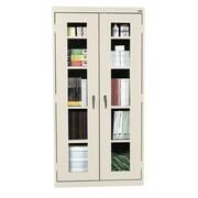 "Sandusky® See Thru 36"" x 24"" x 72"" Clearview Storage Cabinet, Putty"