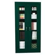 "Sandusky® See Thru 36"" x 24"" x 72"" Clearview Storage Cabinet, Forest Green"